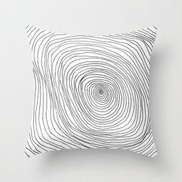 Spiral Rings Throw Pillow