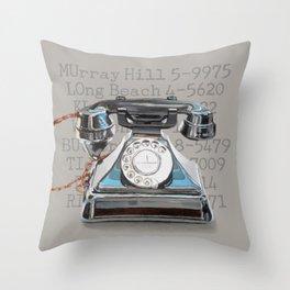 Vintage Telephone Throw Pillow