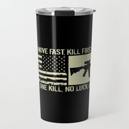M4 Assault Rifle & Tactical Flag Travel Mug