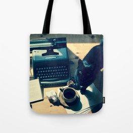 Literary Cat Tote Bag