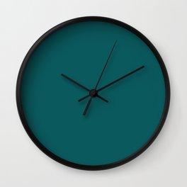 Pantone 19-4524 Shaded Spruce Wall Clock
