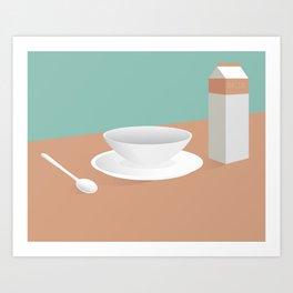 Morning Breakfast Art Print
