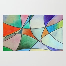 Pastel Abstract 1 Rug