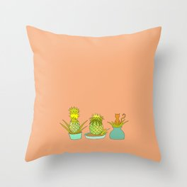 Pineapple Cat Throw Pillow