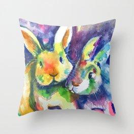 Bunny Pals Throw Pillow