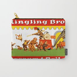 Retro Circus Poster - Monkeys Carry-All Pouch