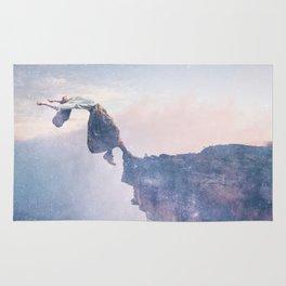 Falling Stars Surreal Levitation Off a Cliff Rug
