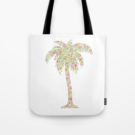 Palm Tree Floral Watercolor Tote Bag