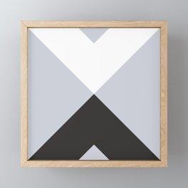 Minimal X Frost Framed Mini Art Print