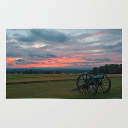 Gettysburg Cannon Sunset Rug