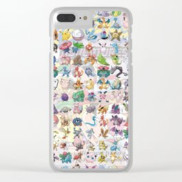 Pocket Monsters Clear iPhone Case