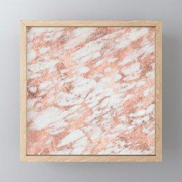 Blush Gold Quartz Framed Mini Art Print