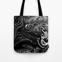 Black Marble Silk Tote Bag