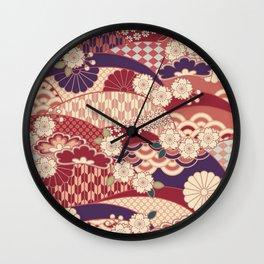 Chiyogami Wall Clock