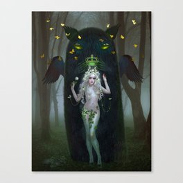 Satyress and Forest Spirit Canvas Print