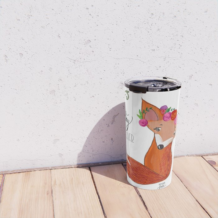 Stay Clever Little Fox Travel Mug