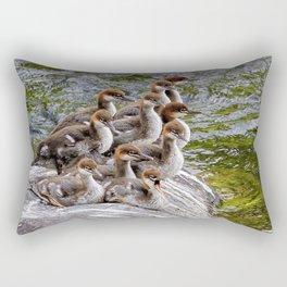 10 Little Mergansers on a Rock Rectangular Pillow