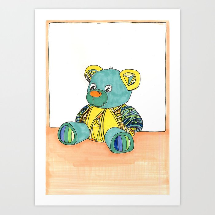 Teddy Greeting card Art Print