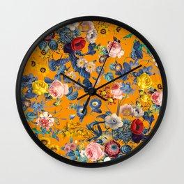 Summer Botanical Garden IX Wall Clock