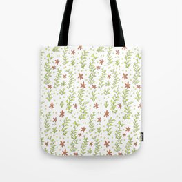 Pink flowers in the garden pattern Tote Bag