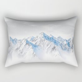 Snow Capped Mountains Rectangular Pillow