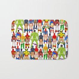 Superhero Butts Bath Mat