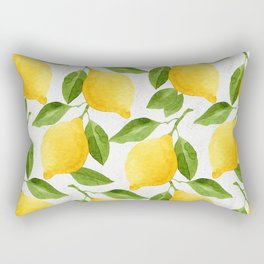 Watercolor Lemons Rectangular Pillow