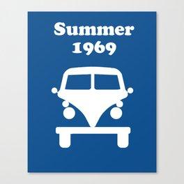Summer 1969 - blue Canvas Print