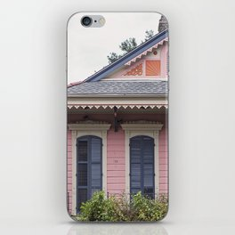 New Orleans Pink Creole Cottage iPhone Skin