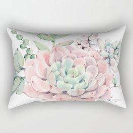 Pink Succulents by Nature Magick Rectangular Pillow