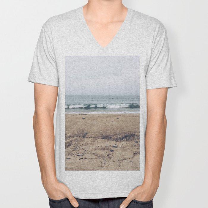 Stormy Sycamore Beach Unisex V-Neck