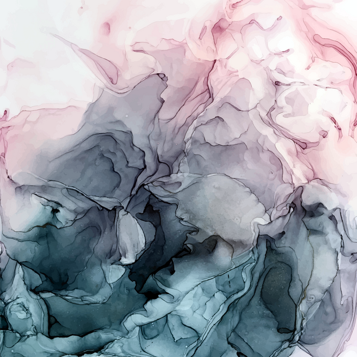 Blush and Payne's Grey Flowing Abstract Painting Comforters