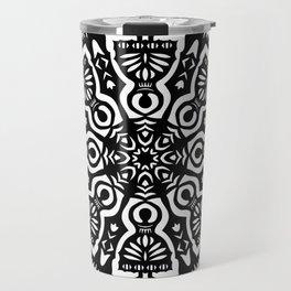 Polish Papercut Dancers Black Travel Mug