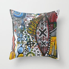 Feathers or Rockets Throw Pillow