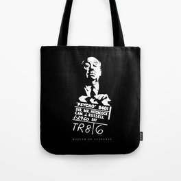 Alfred Hitchcock Master of Suspense Movie Psycho Tote Bag
