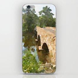 Watercolor - Brugler Rd Bridge iPhone Skin