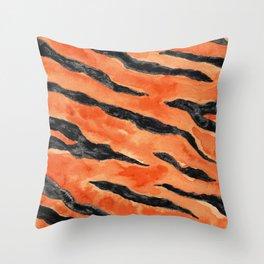 Tiger Stripes (Orange/Black) Throw Pillow