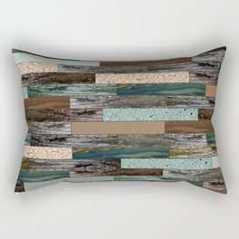Wood in the Wall Rectangular Pillow