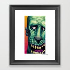 Zombie Blues Framed Art Print