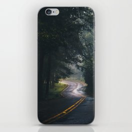 GREY - CONCRETE - ROAD - DAYLIGHT - JUNGLE - NATURE - PHOTOGRAPHY iPhone Skin