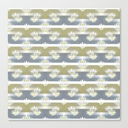 Mix of formal and modern with anemones and stripes 1 Canvas Print