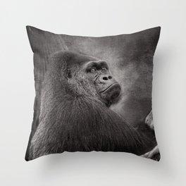 Gorilla. Silverback. BN Throw Pillow