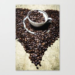 coffee art Canvas Print