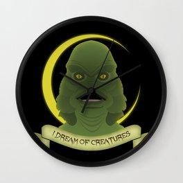 I Dream of Creatures Wall Clock