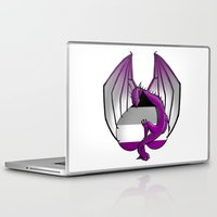 asexual Laptop & iPad Skins featuring Asexual Wyvern by (i)Rene