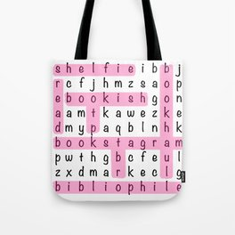Bookstagram Word Search - Pink Tote Bag