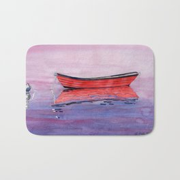 Red Dory Reflections Bath Mat