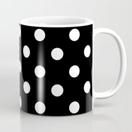 Black Polka Dots Palm Beach Preppy Coffee Mug