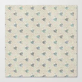 Gold and Abalone Ek Onkar / Ik Onkar pattern Canvas Print