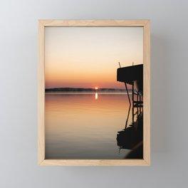 warm sunrise Framed Mini Art Print
